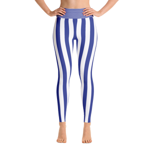 Blue Stripe Yoga Leggings - Spgetti