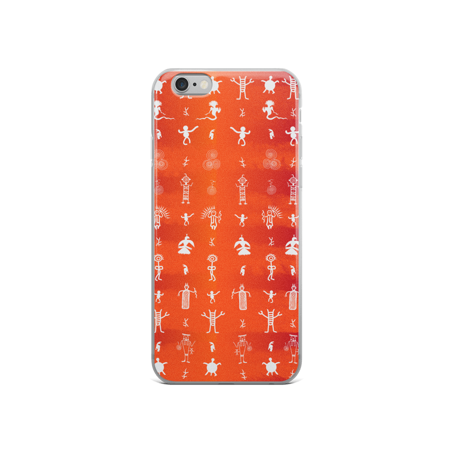 Petroglyph Pattern iPhone Case - Spgetti