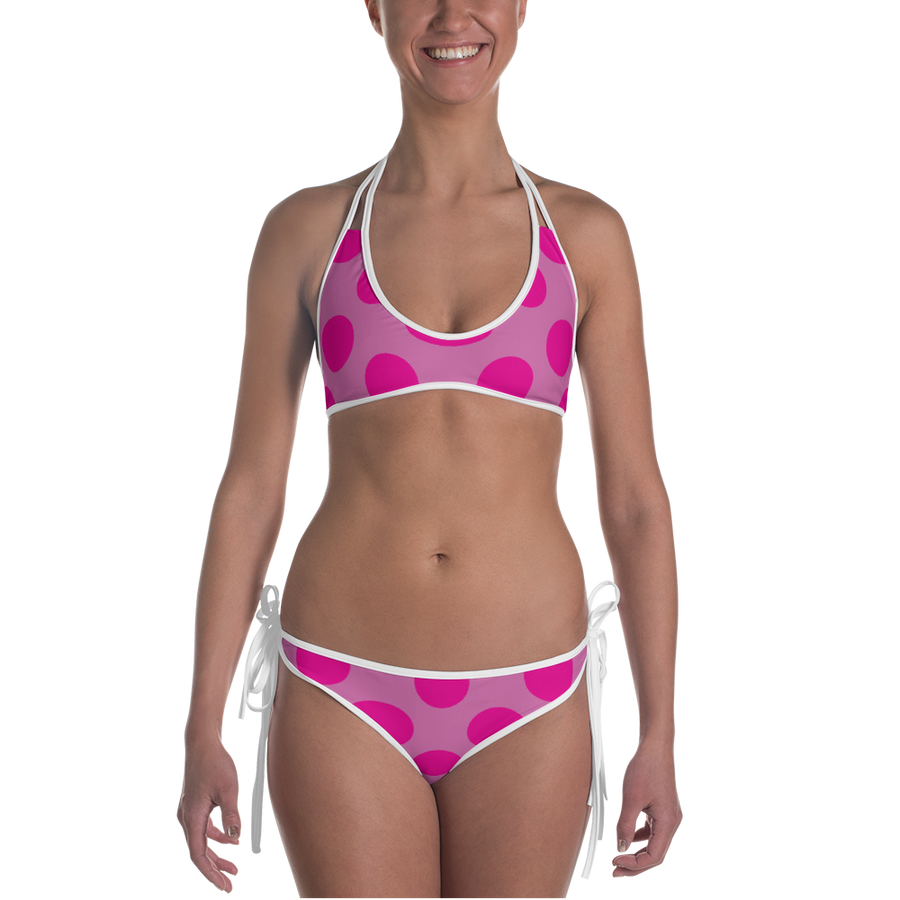 Pink and Blue Dot Bikini - Spgetti