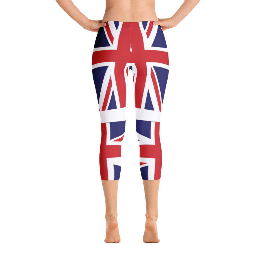 Union Jack Capri Leggings
