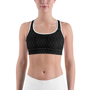 Recurved Circle Pattern Sports bra