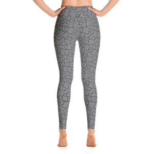 Square Pattern Yoga Leggings - Spgetti