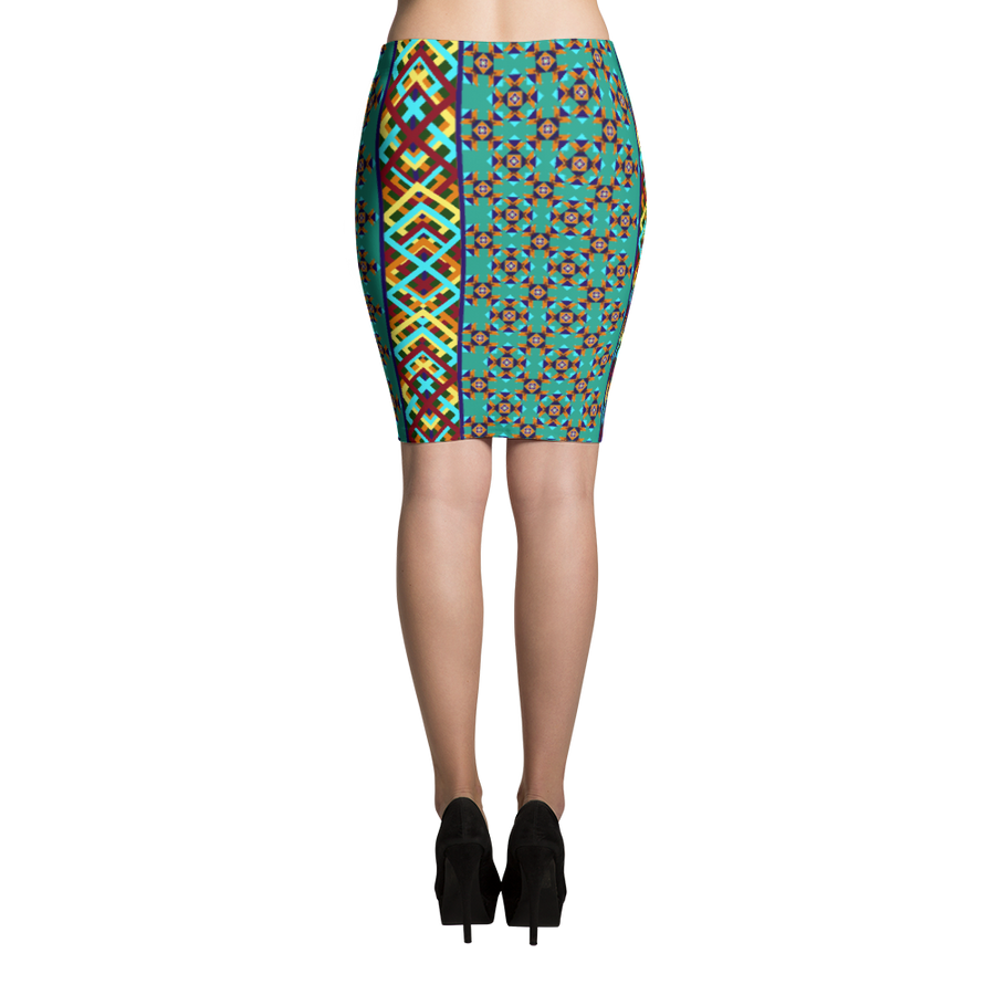 Southwest Design Pencil Skirt