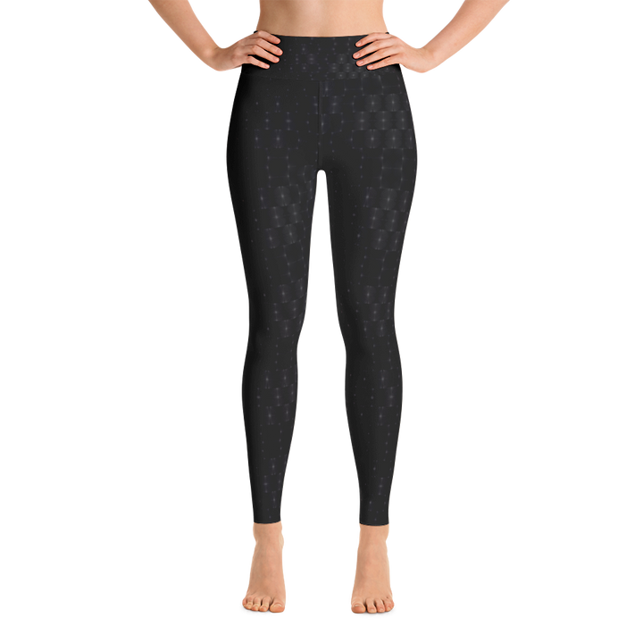 Recurved Circle Pattern Black Yoga Leggings
