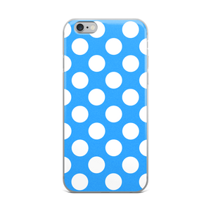 White Dots on Blue iPhone Case