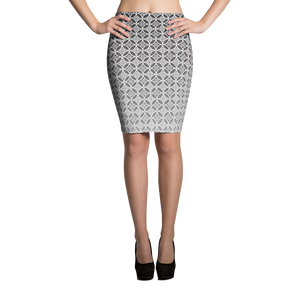 Circle Pattern Pencil Skirt - Spgetti
