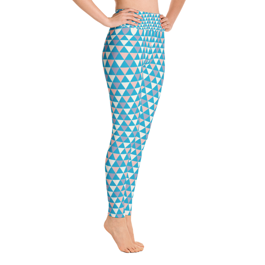 Cool Tone Triangle Yoga Leggings - Spgetti