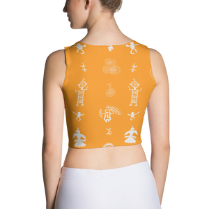 Petroglyph Pattern Crop Top - Spgetti