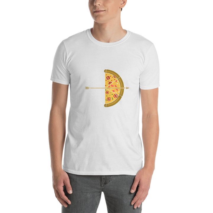 Pizza Bow and Arrow Short-Sleeve Unisex T-Shirt