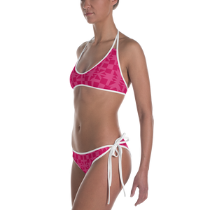 Pink Square and Triangle Pattern Bikini