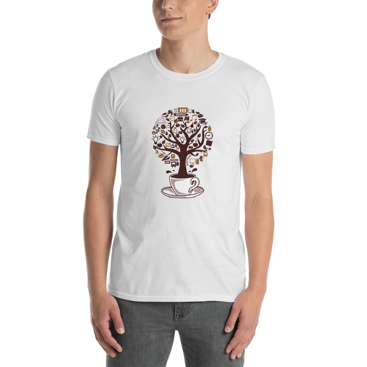 Coffee Tree Short-Sleeve Unisex T-Shirt - Spgetti