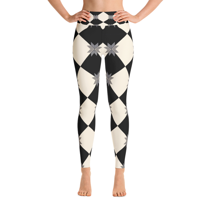 Checkered Yoga Leggings - Spgetti