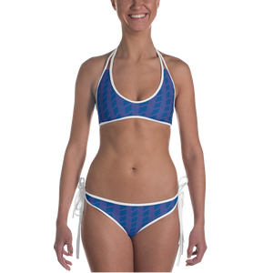 Blue Zig Zag and Cube Bikini - Spgetti