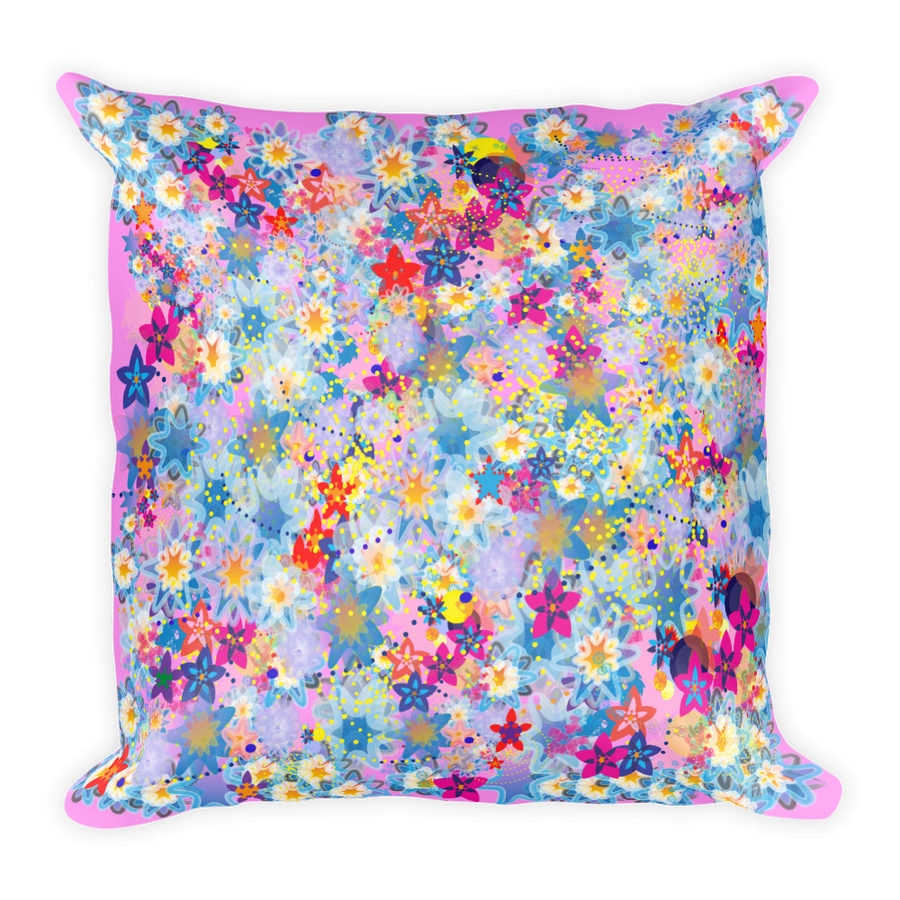 Beautiful Floral Design Square Pillow - Spgetti