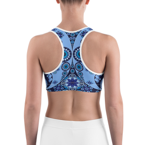 Blue Paisley Sports bra - Spgetti