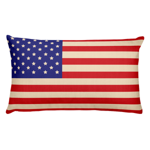 American Flag and Union Jack Rectangular Pillow - Spgetti
