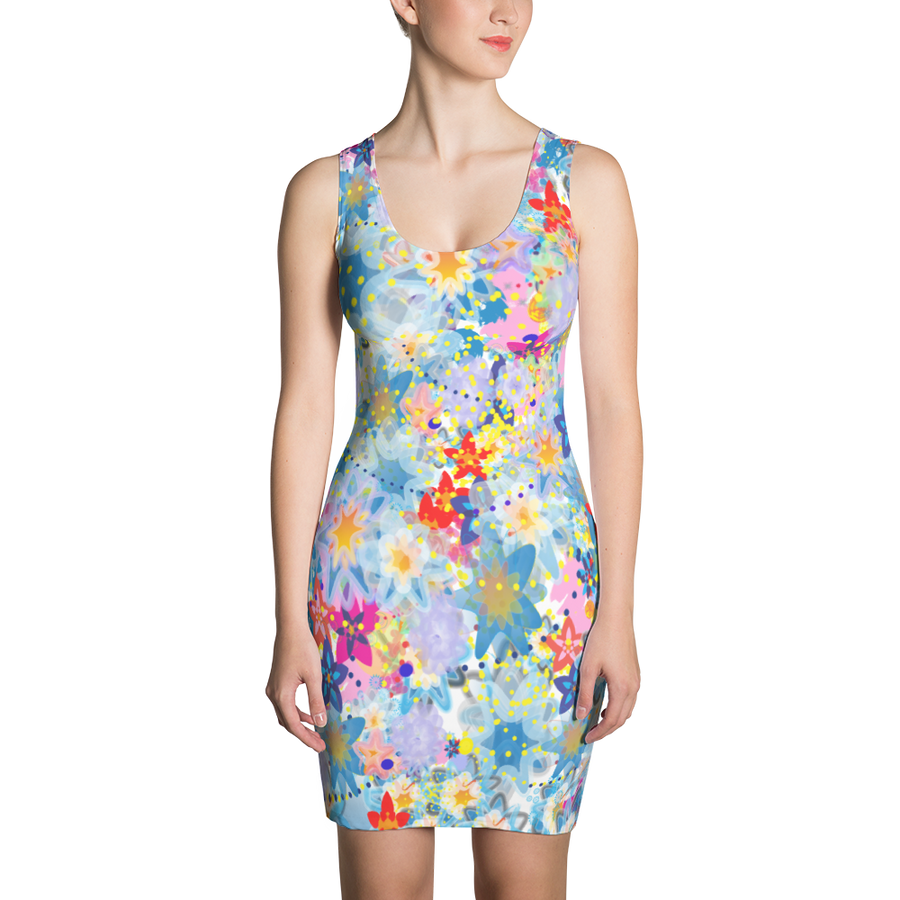 Beautiful Floral Dress - Spgetti