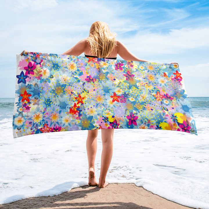 Beautiful Floral Towel - Spgetti