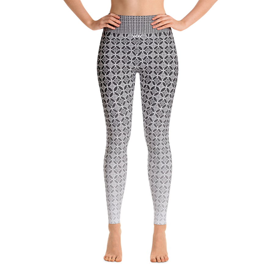Circle Pattern Yoga Leggings - Spgetti