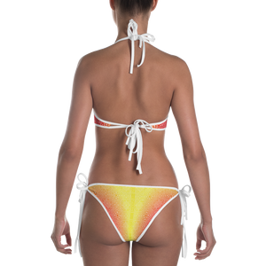 Red and Yellow Pattern Bikini - Spgetti