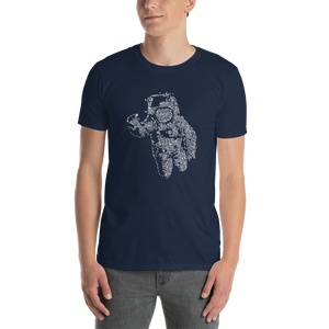 Flying Astronaut  Short-Sleeve Unisex T-Shirt - Spgetti