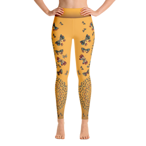 Butterfly Kaleidoscope Yoga Leggings - Spgetti