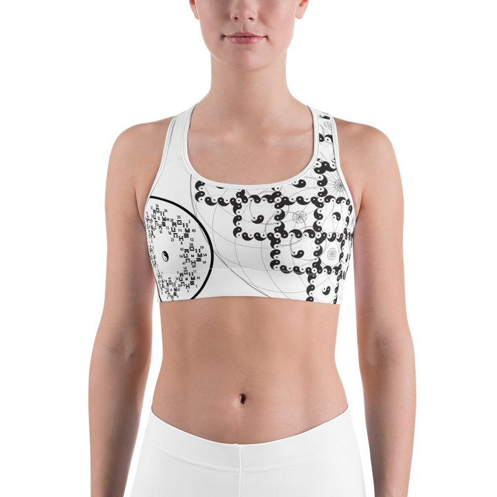 Yin Yang and I Ching Sports bra