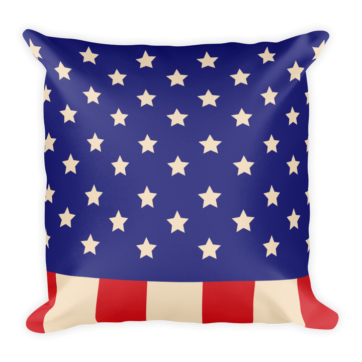 American Flag and Union Jack Square Pillow - Spgetti
