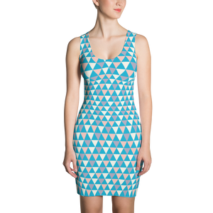 Cool Tone Triangle Dress - Spgetti