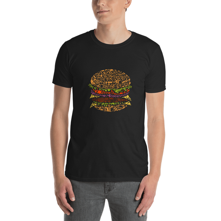 Burger Illustration Short-Sleeve Unisex T-Shirt - Spgetti