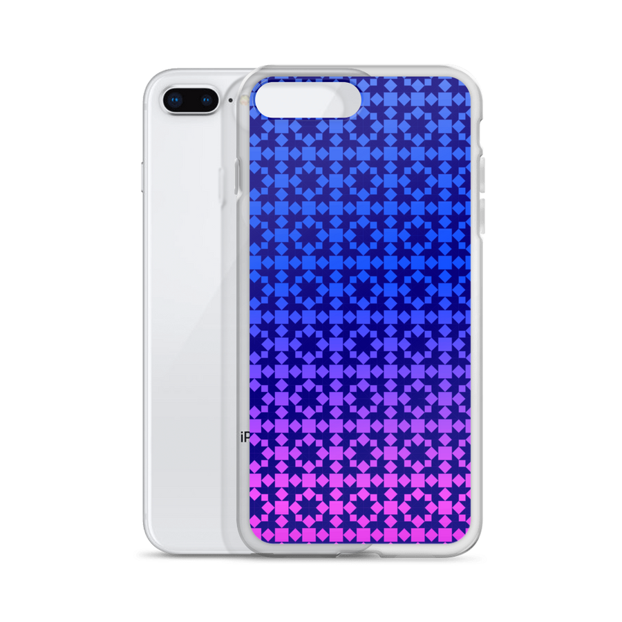 Blue to Pink Pattern iPhone Case - Spgetti