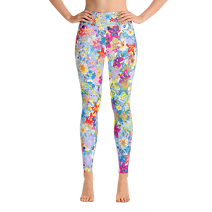 Beautiful Floral Yoga Leggings - Spgetti
