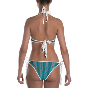 Turquoise and Paprika Pattern Bikini