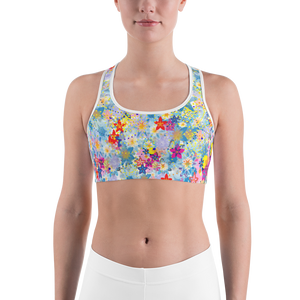 Beautiful Floral Sports bra - Spgetti