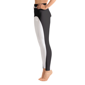 Black Stripe Yoga Leggings - Spgetti
