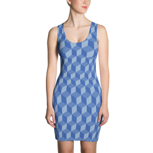 Blue Cube Dress - Spgetti
