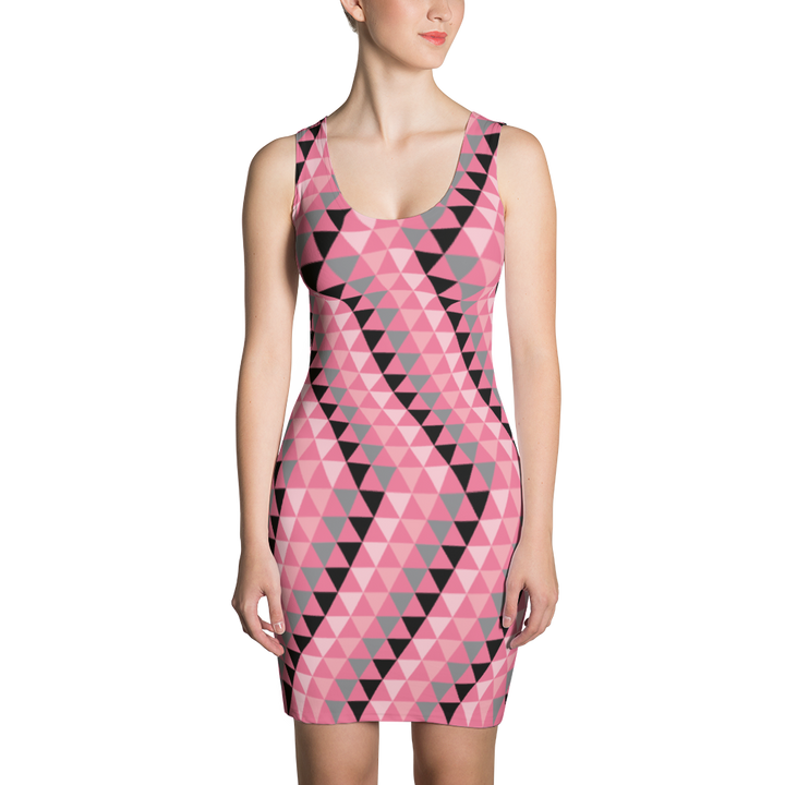 Pink Triangle Dress Dress