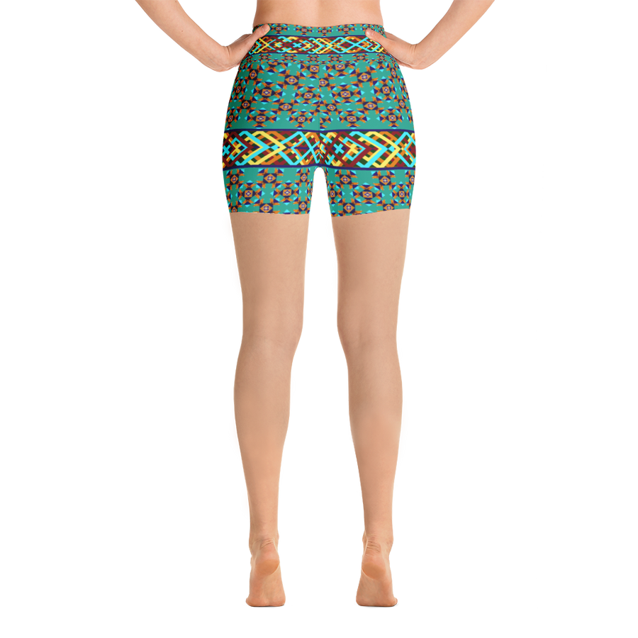 Southwestern Design Yoga Shorts