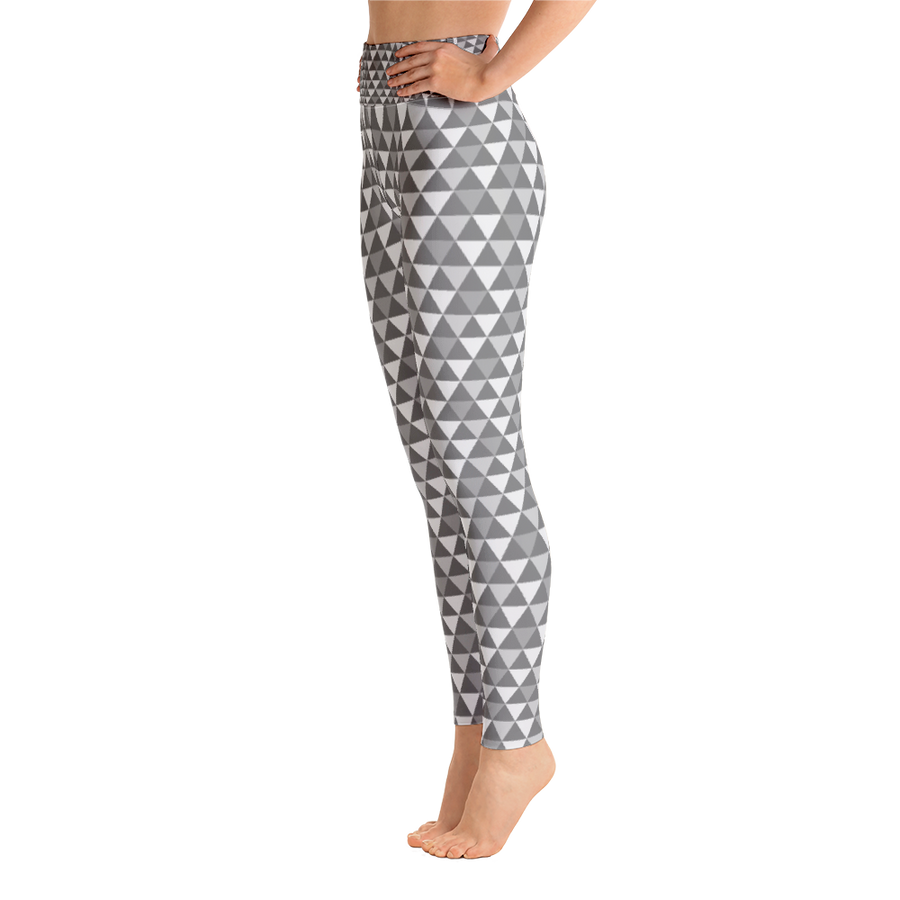 Grey Tone Triangle Yoga Leggings - Spgetti