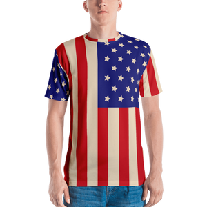 American Flag Men's T-shirt - Spgetti