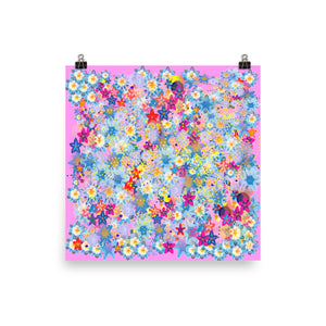 Beautiful Floral Pink Photo paper poster - Spgetti
