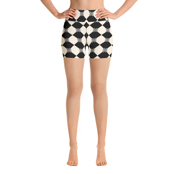 Checker Yoga Shorts - Spgetti