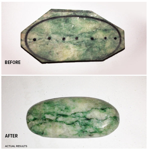 Before After Jade Stone Shaping and Polishing