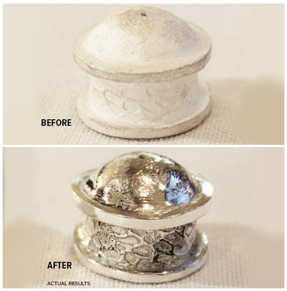 Before After Metal Clay