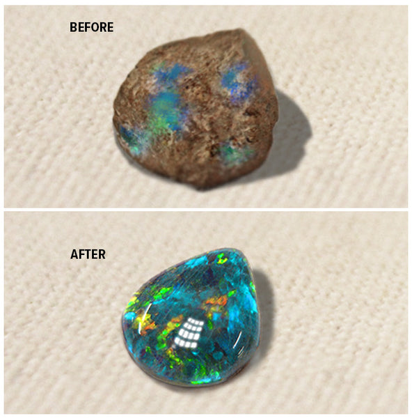 Before After Opal Polishing