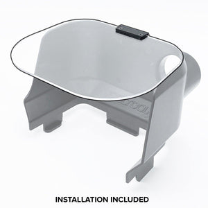 CLEAR COVER VISOR - INSTALLED ON YOUR EXISTING HOOD