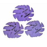 "3"" Purple Ceramic 80-120-220 grit 9-pack"