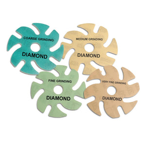 "3"" Diamond  Microfinishing Combo Set 74,45,30,20 micron 1 of each"
