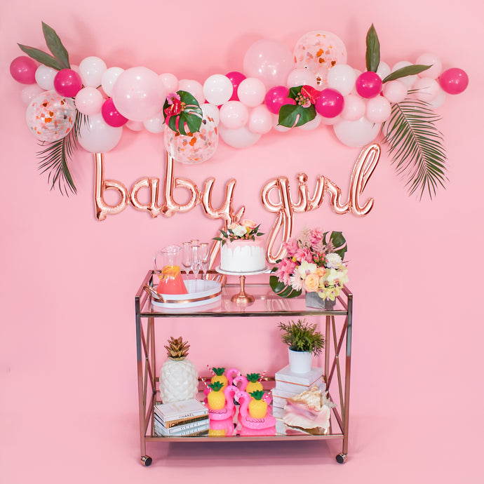 Quick & Easy DIY Balloon Garland for a Girl Baby Shower