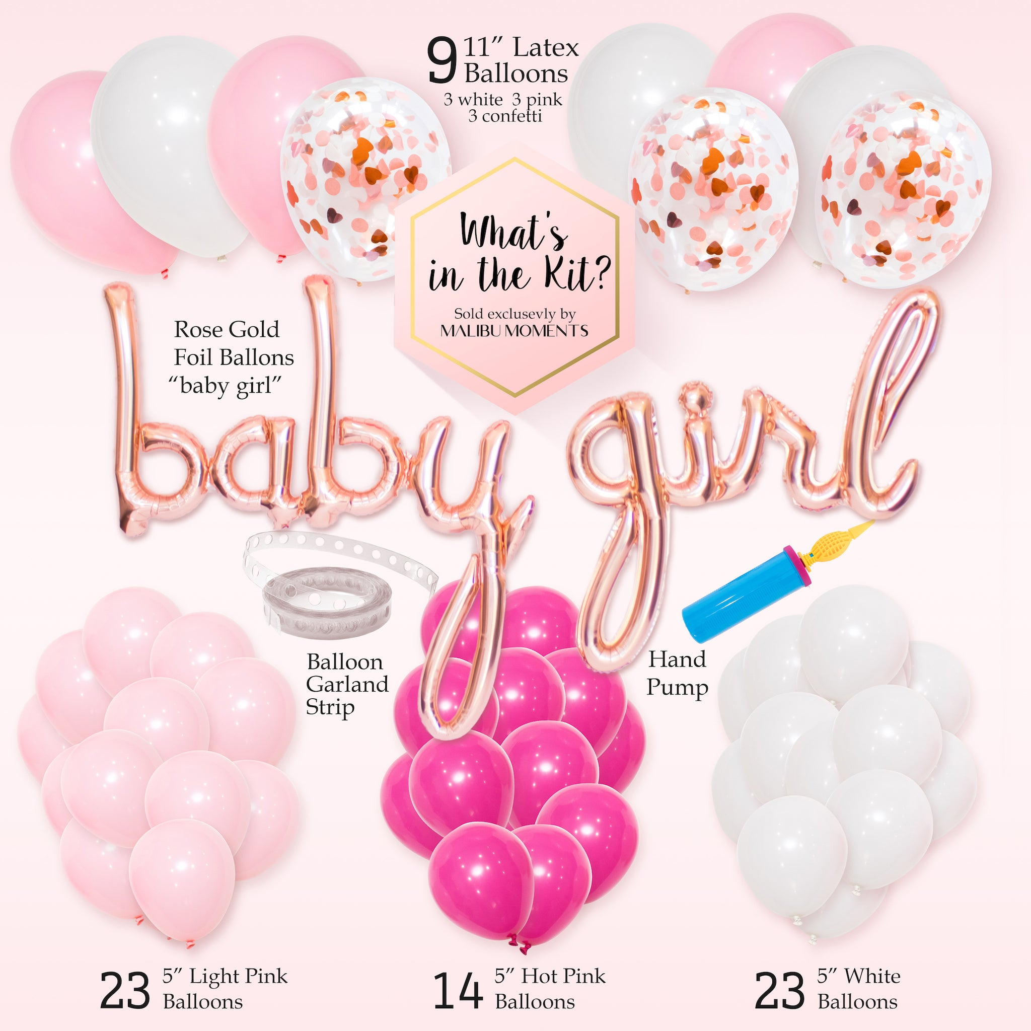 Baby Shower Decorations For Girl It S A Girl Balloon